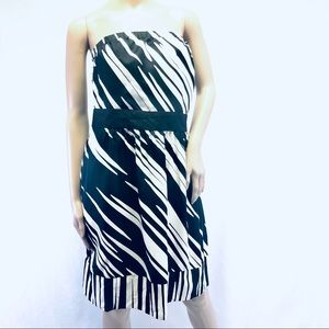 NWT The Limited strapless animal print dress